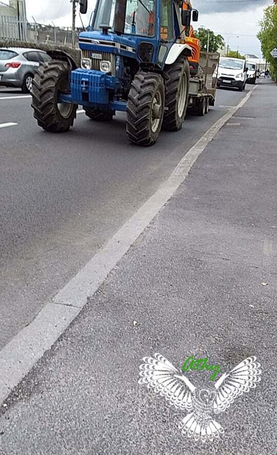 Athy Ireland Tractor Driving on Road